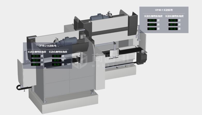 机械产品模型生产数据3D可视化在线实时展示