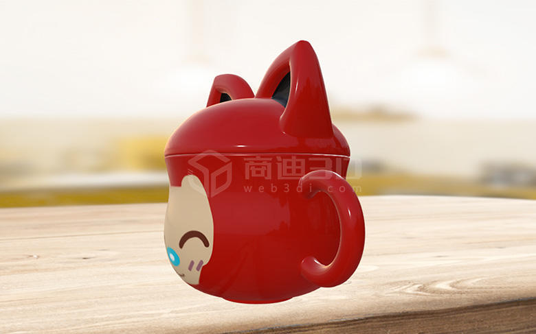 电商杯子产品3D模型数字化三维高清建模线上展示