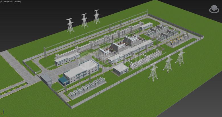 电站三维地图建模
