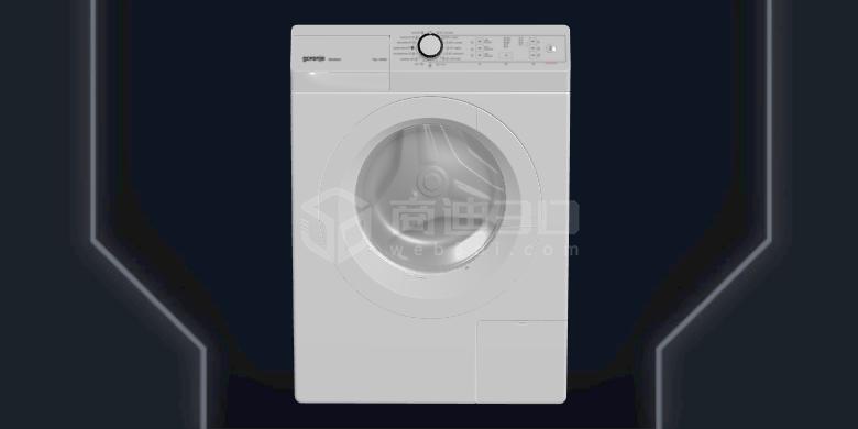 电商洗衣机产品线上3D建模H5三维模型在线展示