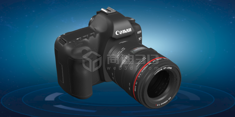 照相机3D模型产品数码H5三维建模线上展示