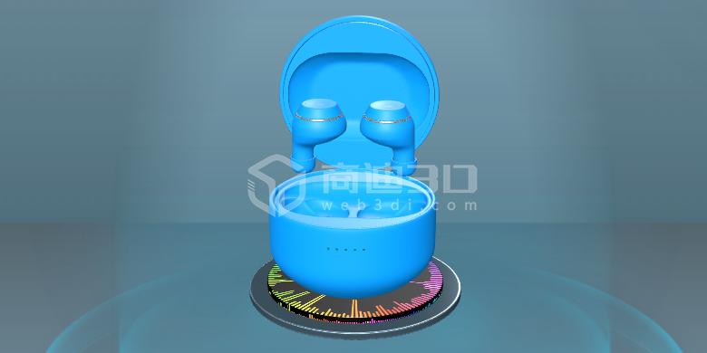 网页三维模型3D互动展示,可720°旋转换色拆解