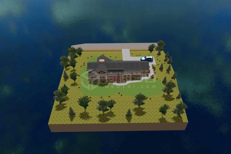 别墅3d展示电子沙盘
