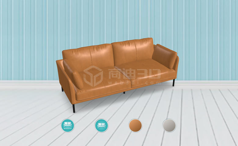 沙发3dvr模型虚拟现实全景线上展示