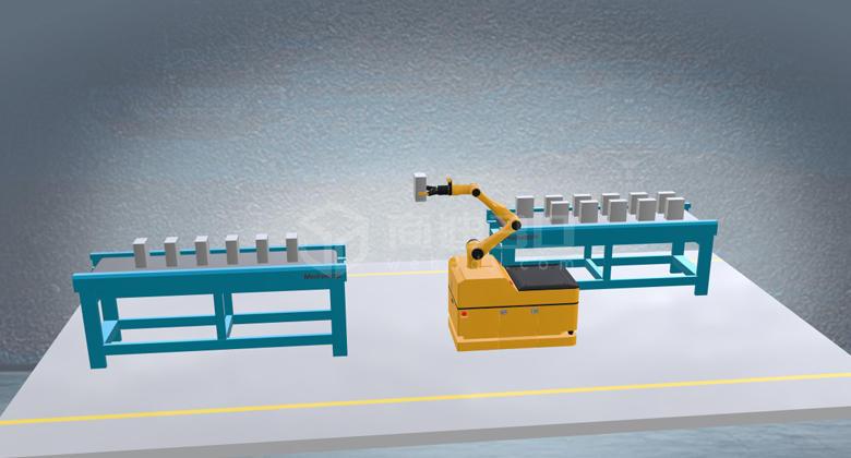 工厂3d仿真机械臂机器人3D工业仿真