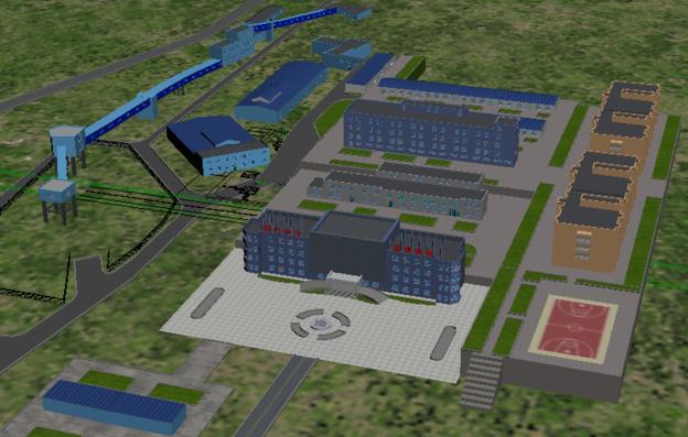 工厂3d建模