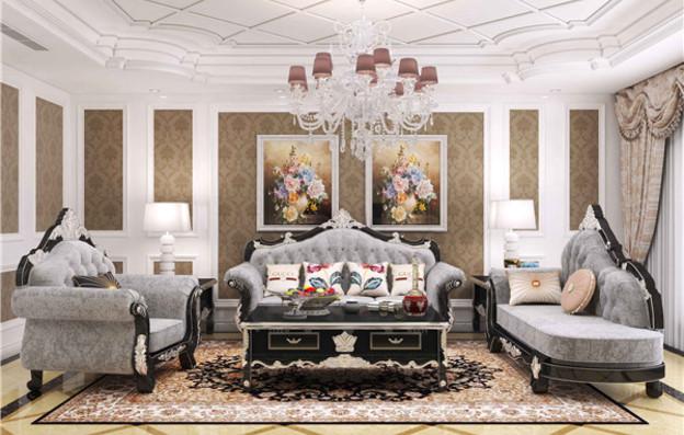 欧式沙发效果图制作
