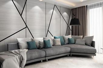 现代风格墙纸效果图定制
