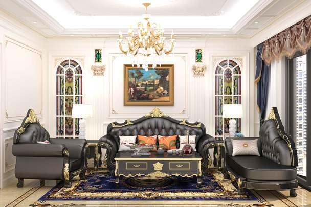 欧式沙发贵族沙发效果图_家具3D建模