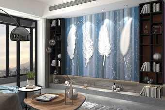 现代风格墙纸效果图渲染