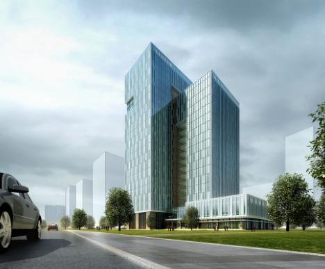 现代3D建筑效果图房地产