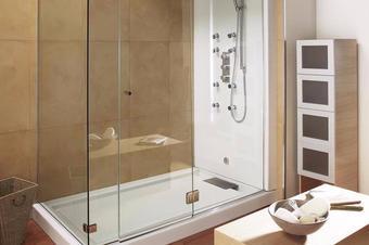 小户型淋浴房3D效果图,浴室效果图