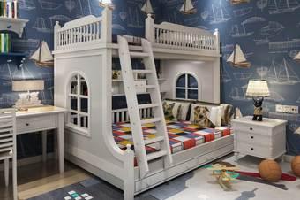 儿童床3D建模制作效果图