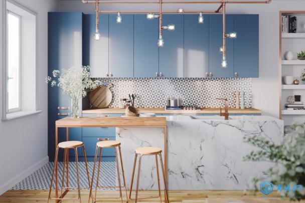 厨房场景建模3d效果图制作