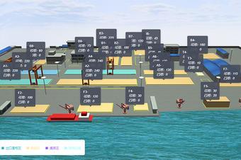 口岸码头3d可视化天天彩票示|数字孪生系统开发|智慧码头