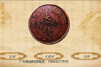 大清币古钱币3D立体图
