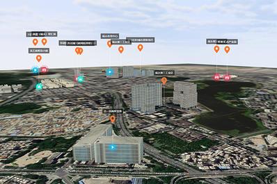 深圳宝安区智慧工业产业区规划3D地图展示