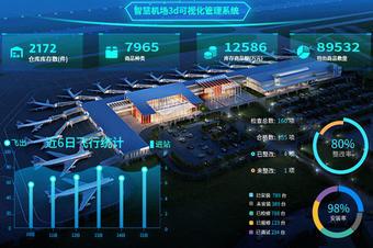 智慧机场治理系统_3d可视化开发
