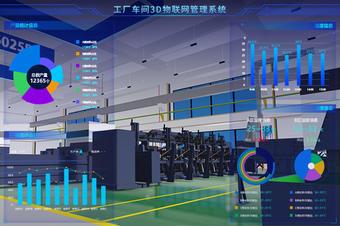 工厂车间3D物联网管理系统