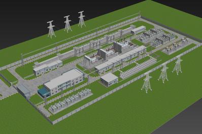 三维地图_电站三维地图建模_智慧电站3d可视化