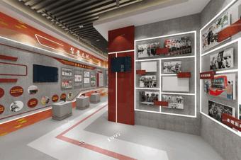 3d展厅搭建之永不落幕的党政红色展厅