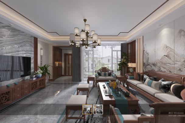 3D全景建模VR线上房产展厅商迪3D可视化展示