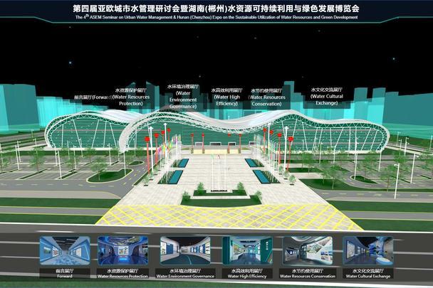 VR虚拟3D线上展馆之水资源绿色发展博览会