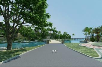 3D全景建模VR景区度假村线上3D展示设计