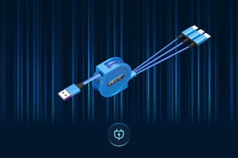 H5三维充电数据线建模3D模型VR高清线上展示