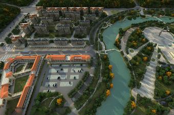 3D地图三维VR鸟瞰全景山体地形模型可视化展示
