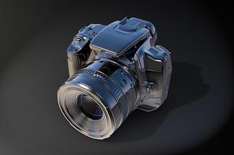照相机3D模型产品数码H5三维建模vr线上展示