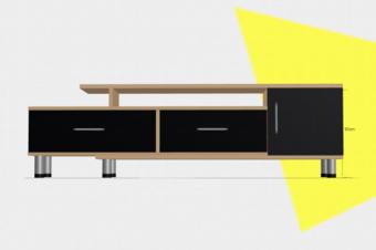 电视柜3D展示模型丨家具三维可视化建模线上展示