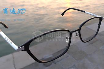 三维建模眼镜电商产品3D模型VR虚拟个性化展示