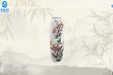 古董花瓶三维扫描建模数字化3D高清模型展示