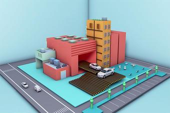 3D智慧工厂数据可视化实景三维模型系统平台