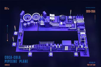 3D智慧工厂数据可视化建模三维模型展示
