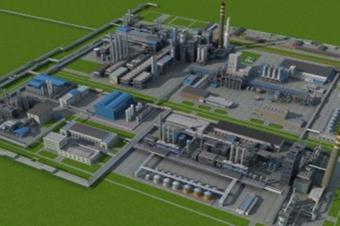 3D智慧工厂建筑三维智能化管控大屏决策系统