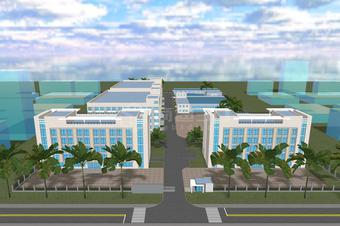 园区建筑模型3D可视化大屏展示制作方法和价格