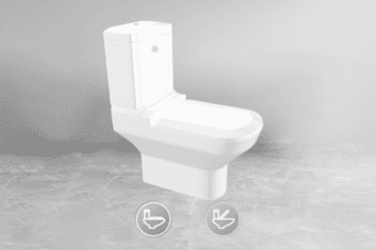 产品三维展示之马桶3D展示带来不一样的网页三维呈现