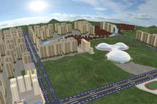 仿真城市建筑3d可视化建模三维建筑模型